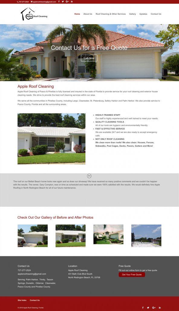 Apple Roof Website
