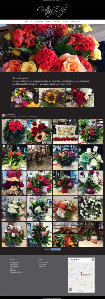 Cuttingedge Flowers Website