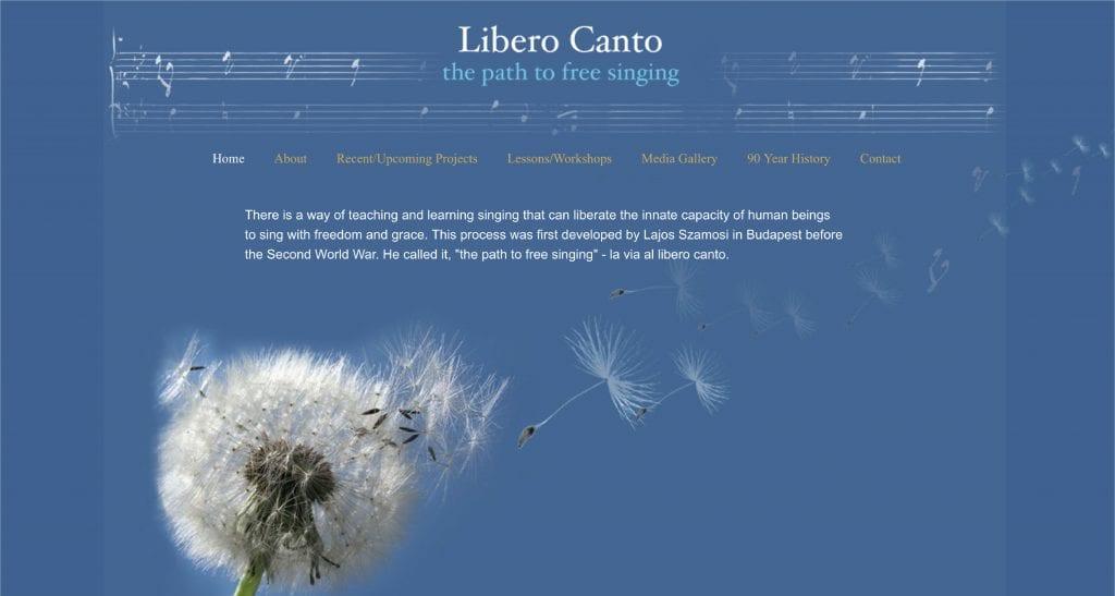 Libero Canto Website