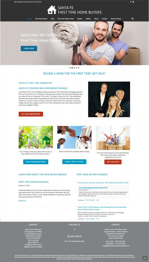Santa Fe Home Buyers Website