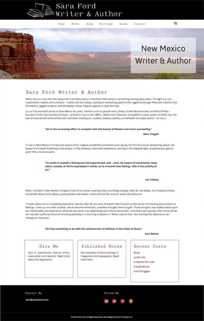 Sara Ford Website