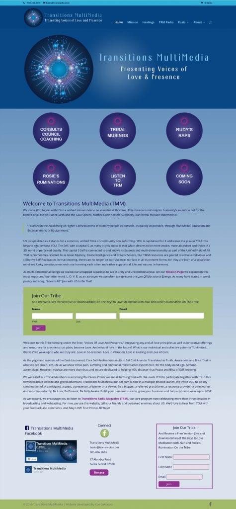 Transitions Multimedia Website